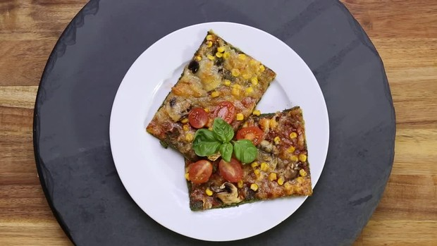 Low Carb: Spinat Pizza